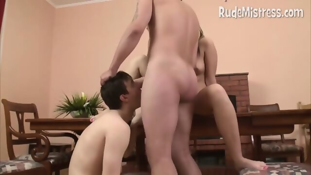 Mom got creampie in shaved pussy